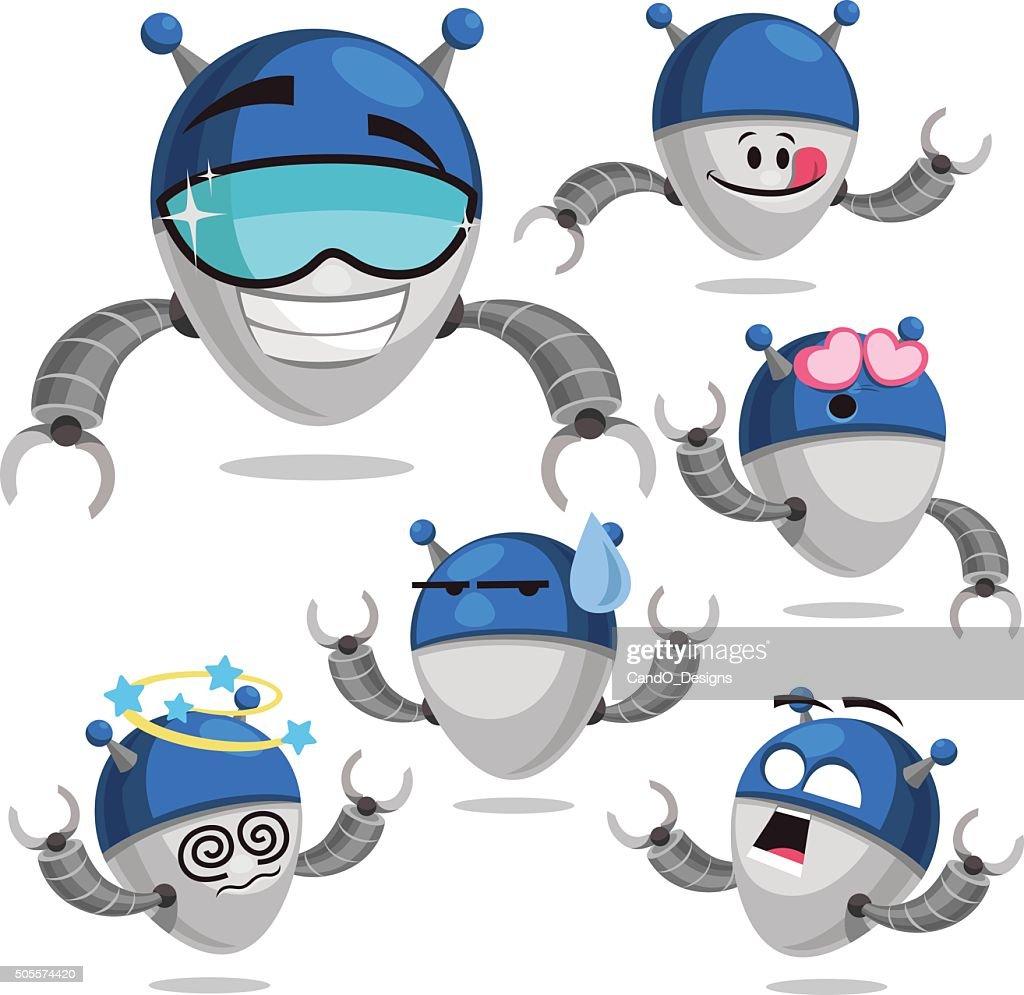 Robot Cartoon Set A