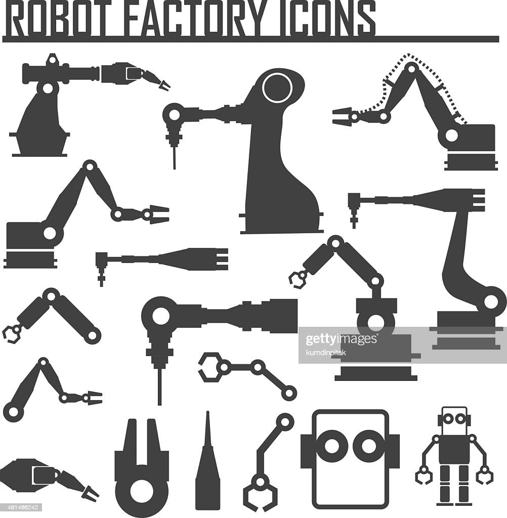 robot factory icons vector illustration.