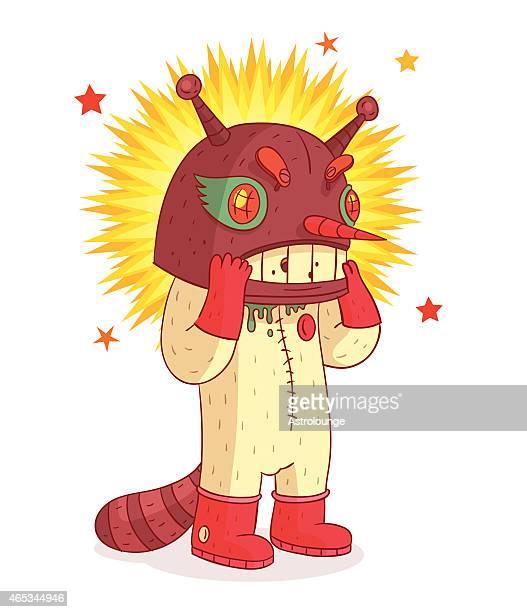 ilustraciones, imágenes clip art, dibujos animados e iconos de stock de robot de caracteres - monstruo