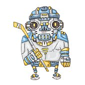 robot hockey player