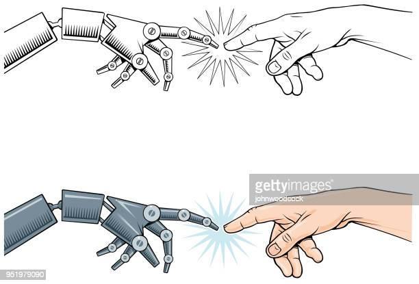 ロボット人間クラシック タッチ - 工業用ロボット点のイラスト素材/クリップアート素材/マンガ素材/アイコン素材