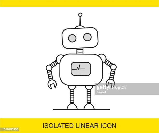 robot icon - robot stock illustrations