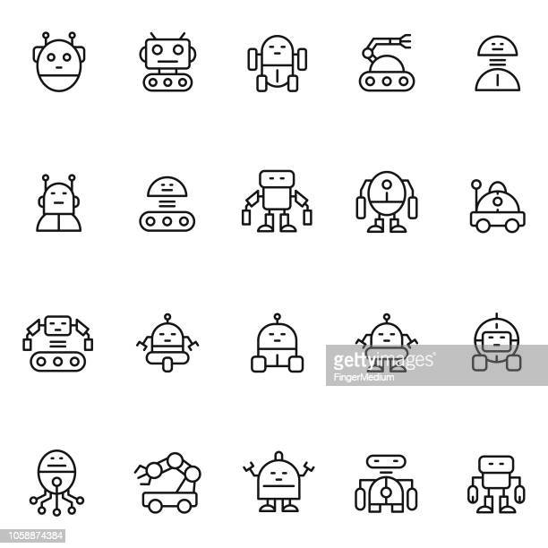 robot icons - robot stock illustrations