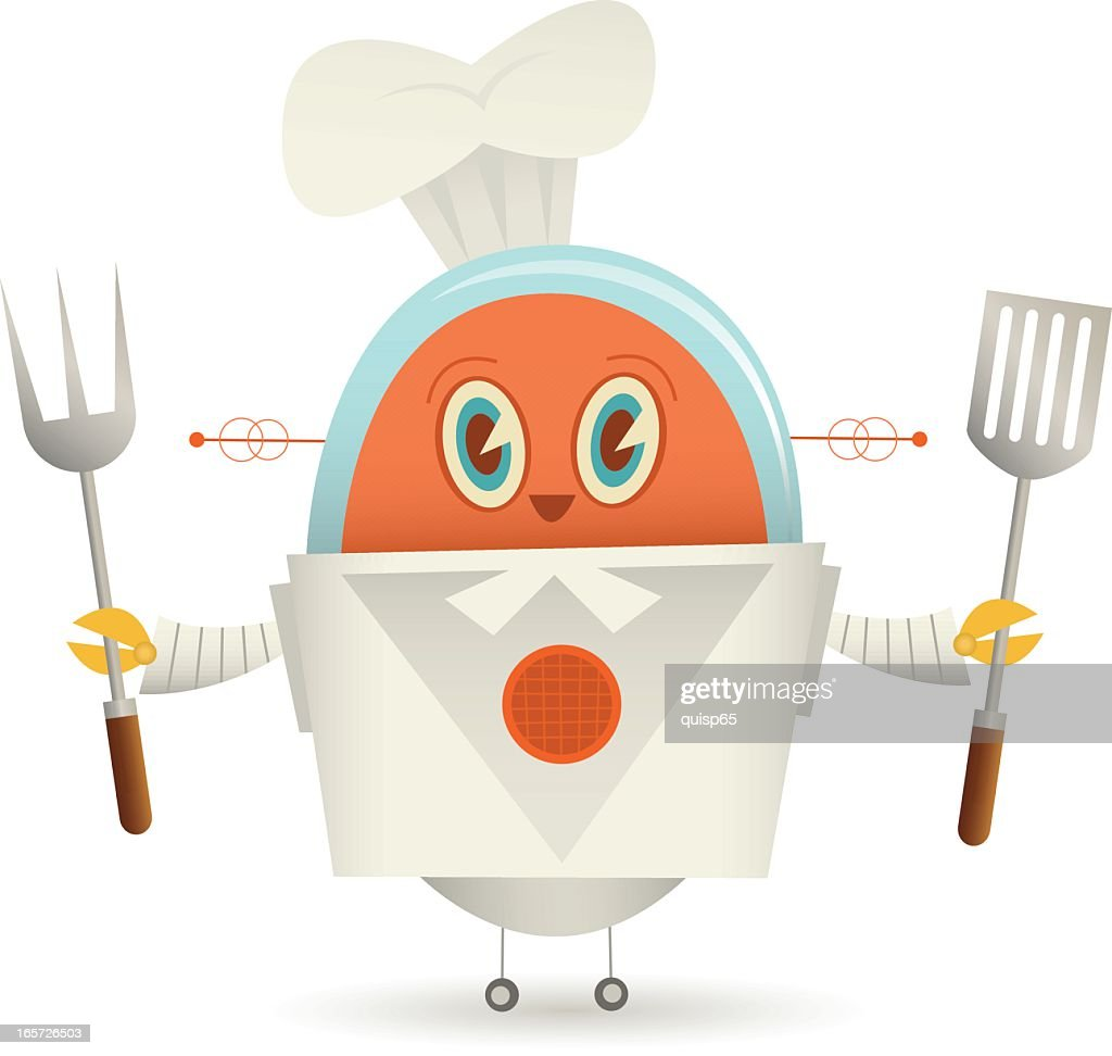 Chef Robot : Vector Art