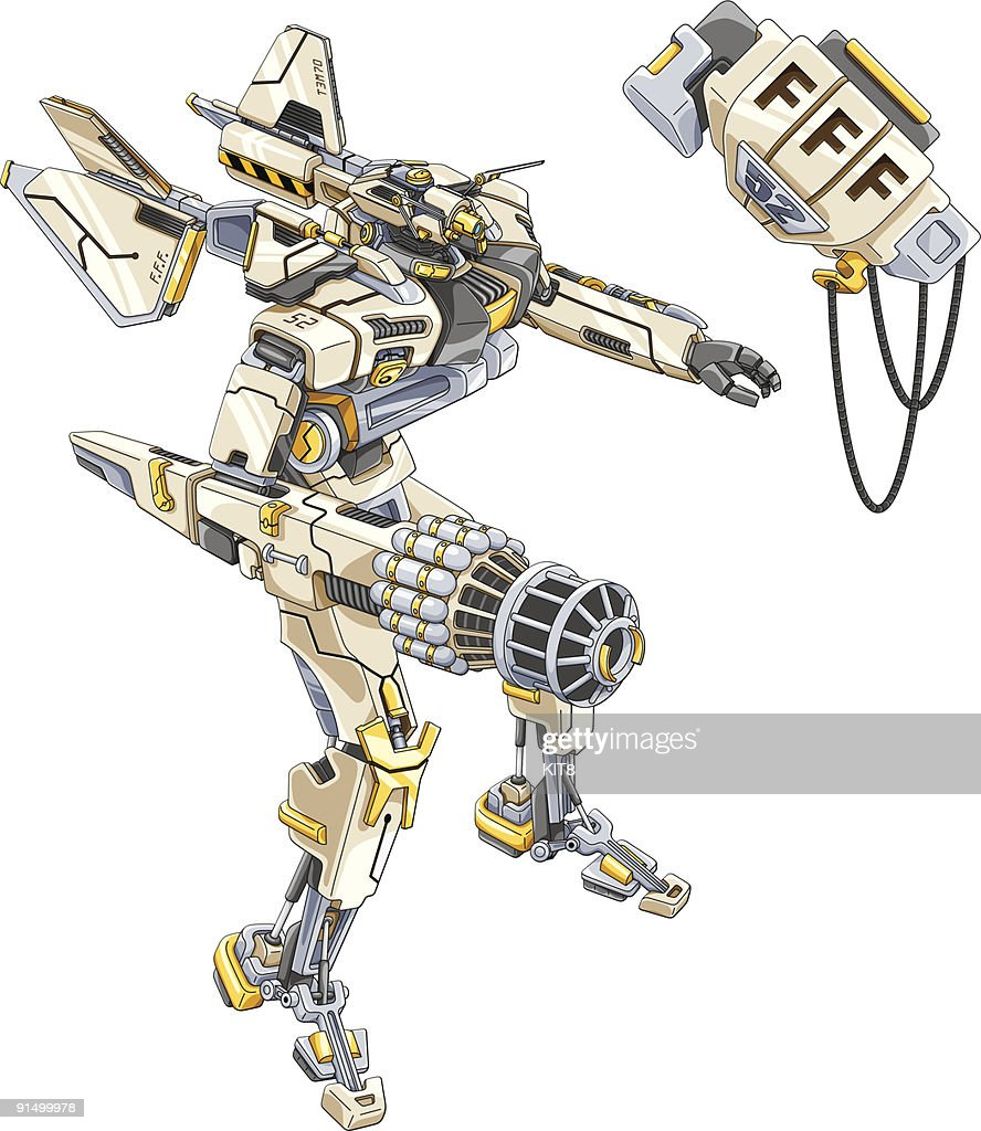 Robot made of wires and metal parts