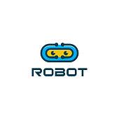 Robot mascot vector logo desin