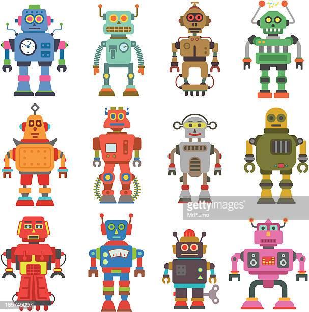 ilustraciones, imágenes clip art, dibujos animados e iconos de stock de robot de - robot
