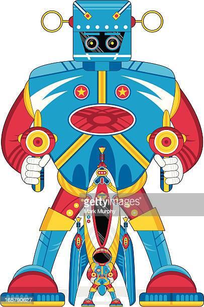 Robot Spaceman & Rocket Ship