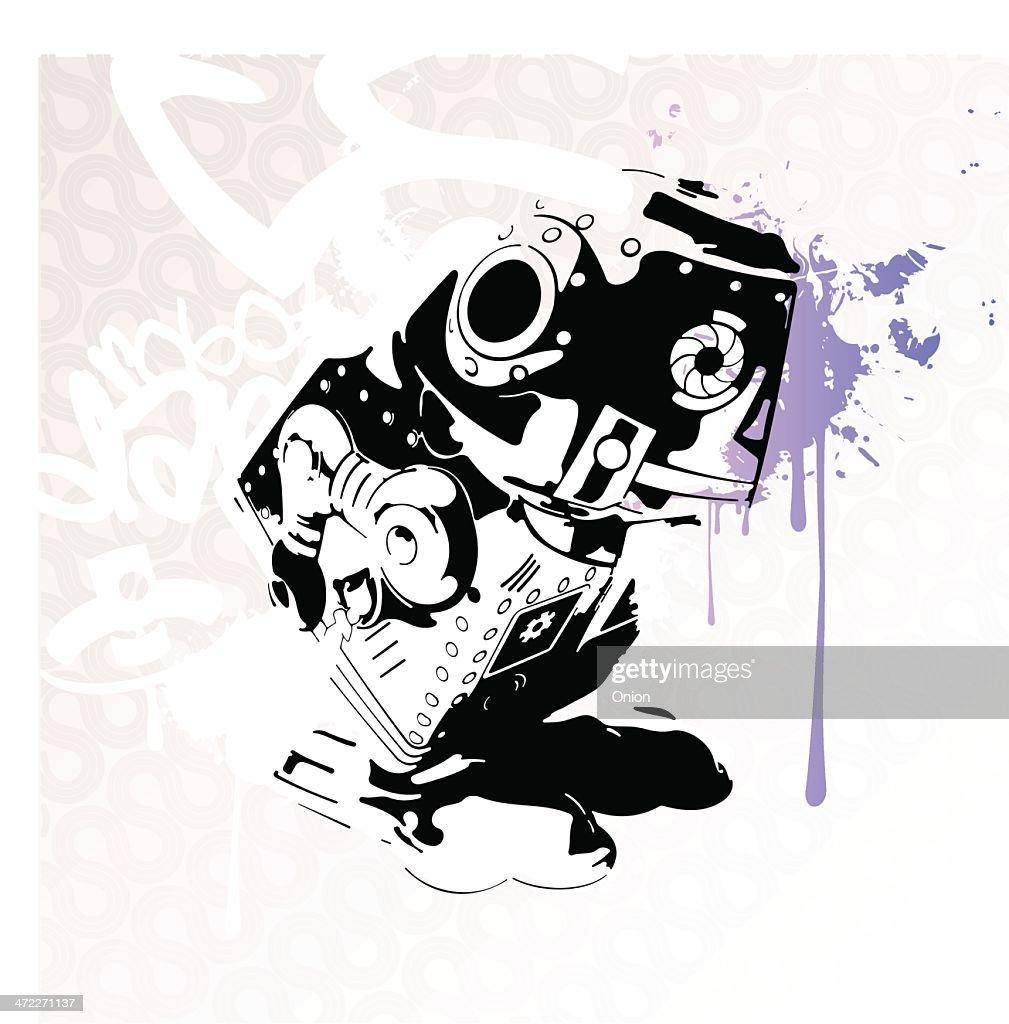 Robot Stencil - Illustration