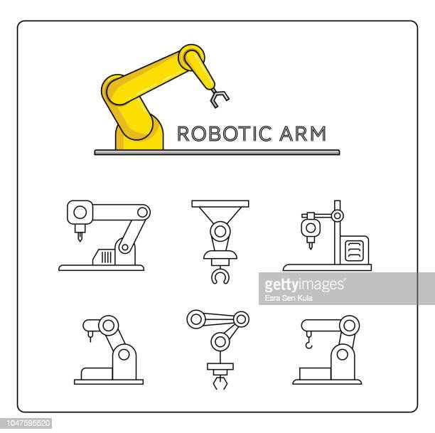 Robotic Arm and 3D Printer Icon Set