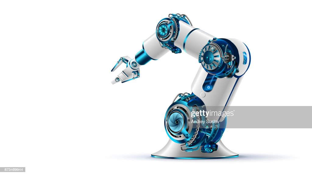 robotic arm. Mechanical hand. Industrial robot manipulator.