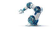 robotic arm. Mechanical hand. Industrial robot manipulator.