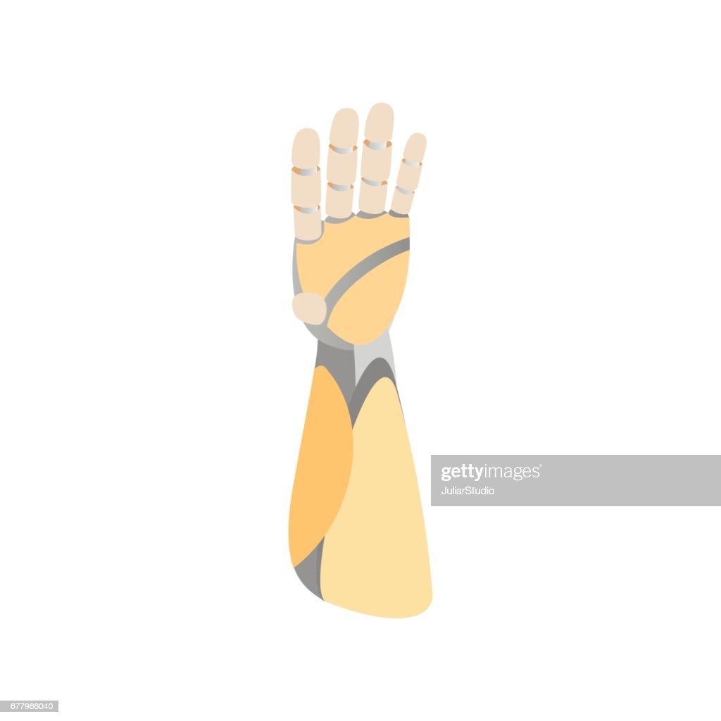 A robotic mechanical arm looks like a human hand