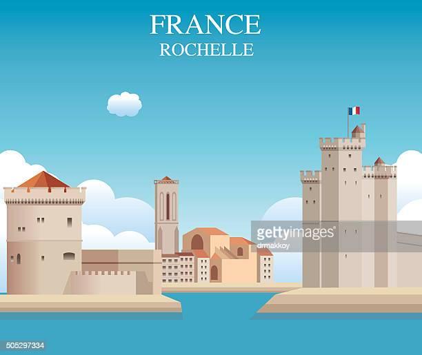 rochelle castle - la rochelle stock illustrations