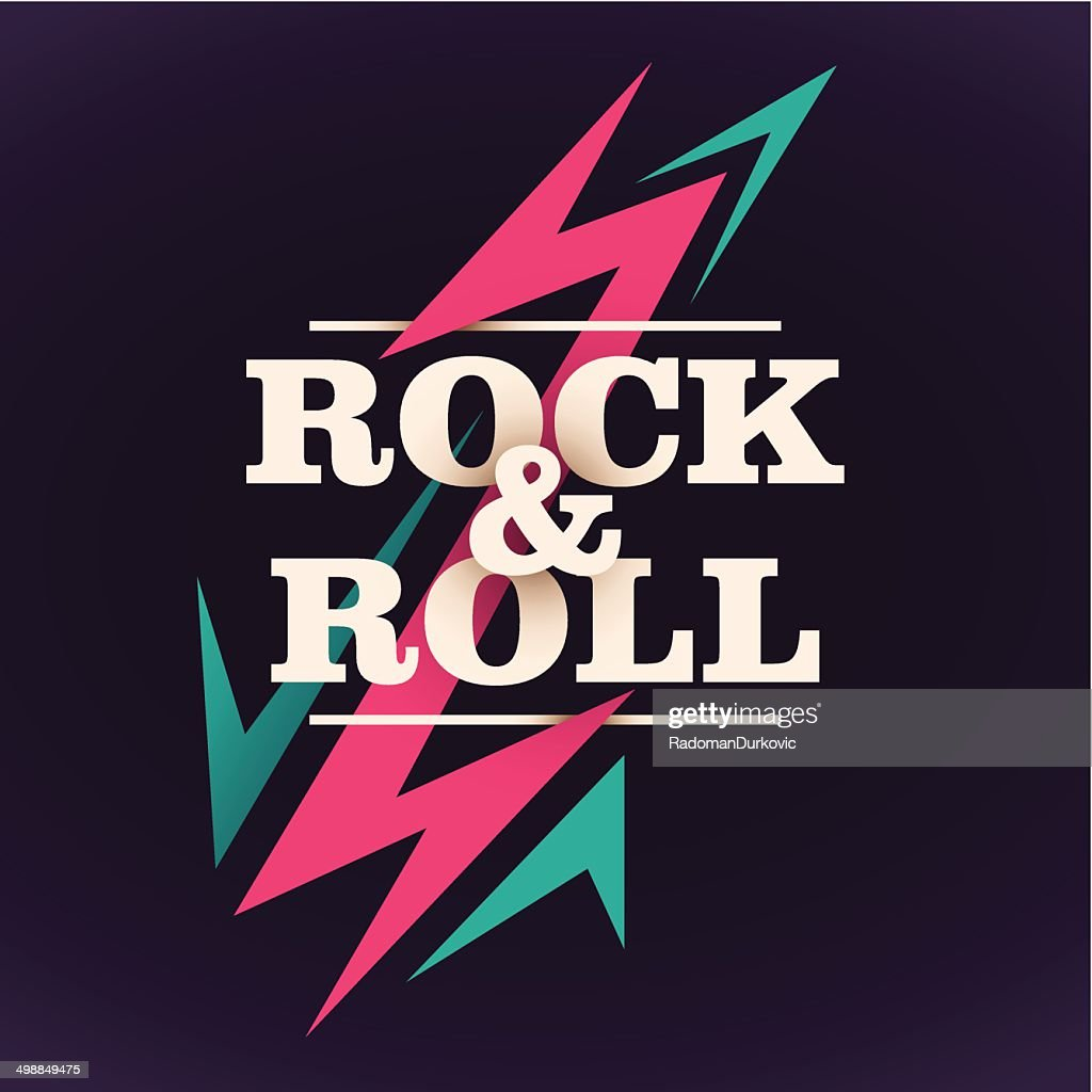 Rock and roll background design.