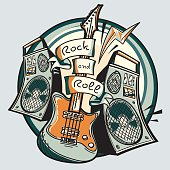 Rock and roll guitar and amplifiers