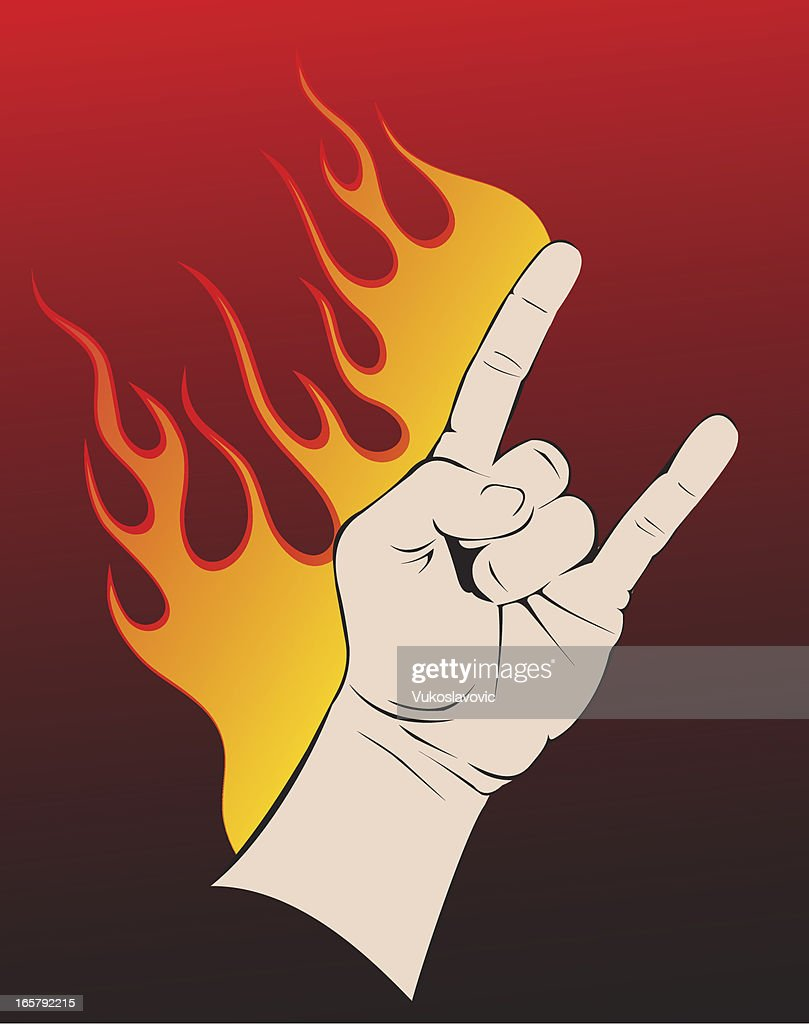 Rock And Roll Hand Symbol Vector Art Getty Images