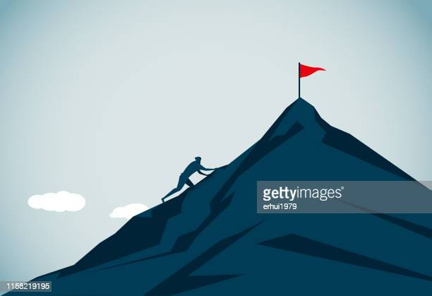 rock climbing - clambering stock illustrations