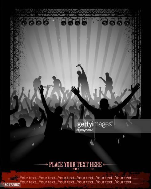 rock concert area
