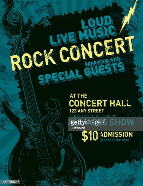 concert de Rock poster design template