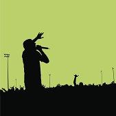 Rock Concert Silhouette #01