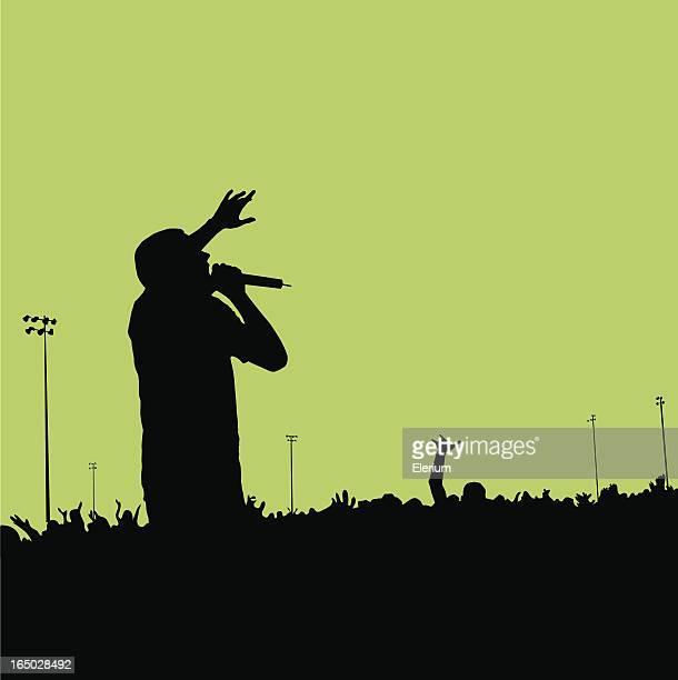 ilustrações de stock, clip art, desenhos animados e ícones de rock concert silhueta#01 - hip hop
