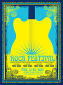 Rock festival poster advertisement