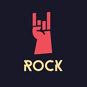 rock hand - vector illustration