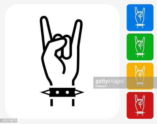 Rock-Symbol flache Grafik Design