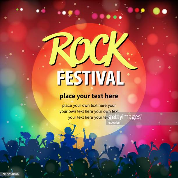 rock music festival - applauding stock illustrations, clip art, cartoons, & icons