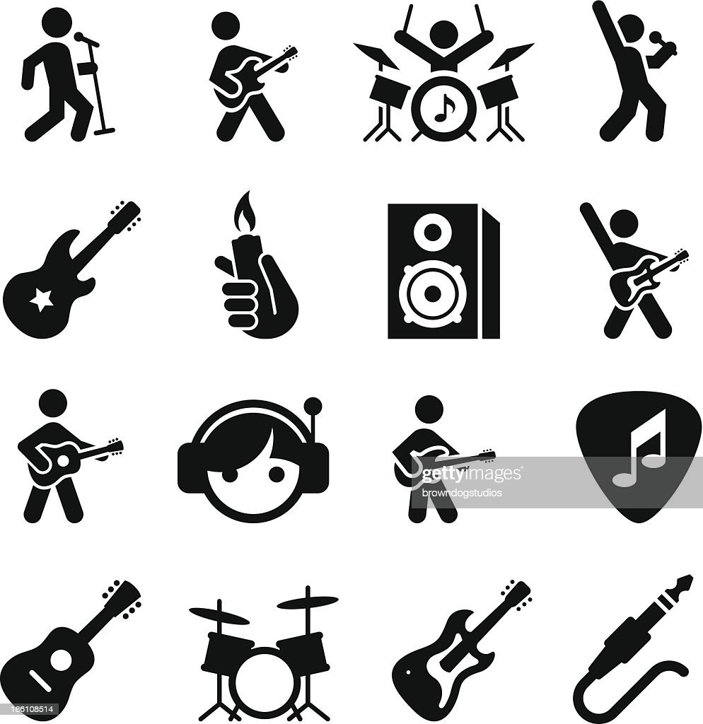 Rock Music Icons - Black Series