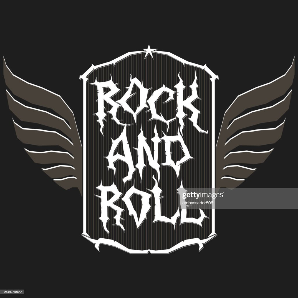 Rock music print