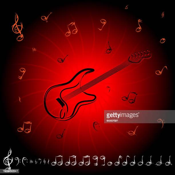 rock musical note - bass clef stock illustrations, clip art, cartoons, & icons