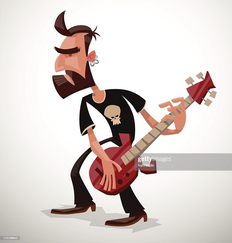 Rock musician with a beard