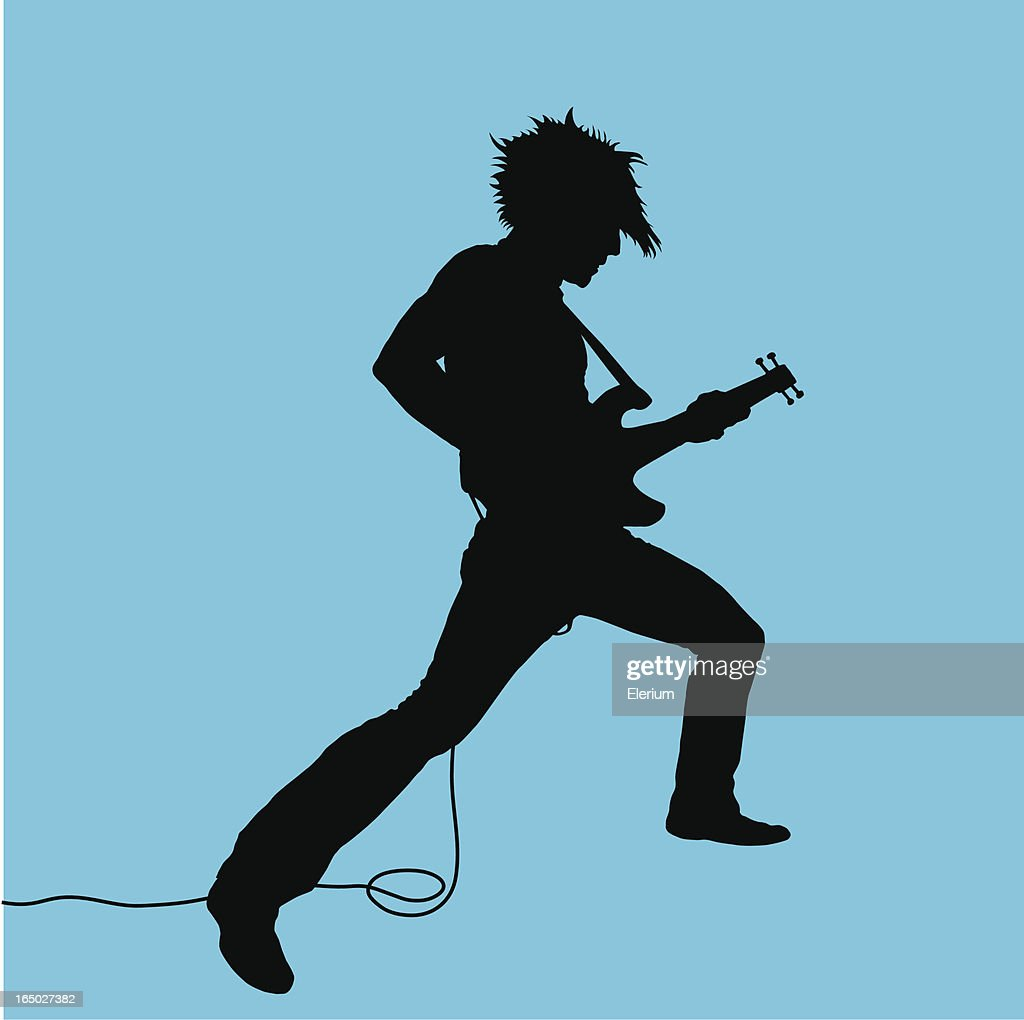 Rock Out! Guitarist #03 : Stock Illustration