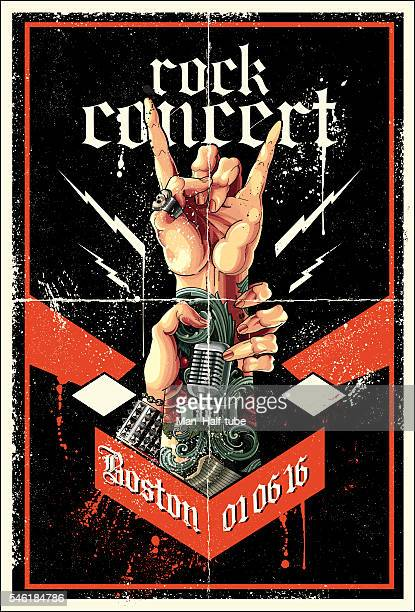 rock poster - poster stock-grafiken, -clipart, -cartoons und -symbole