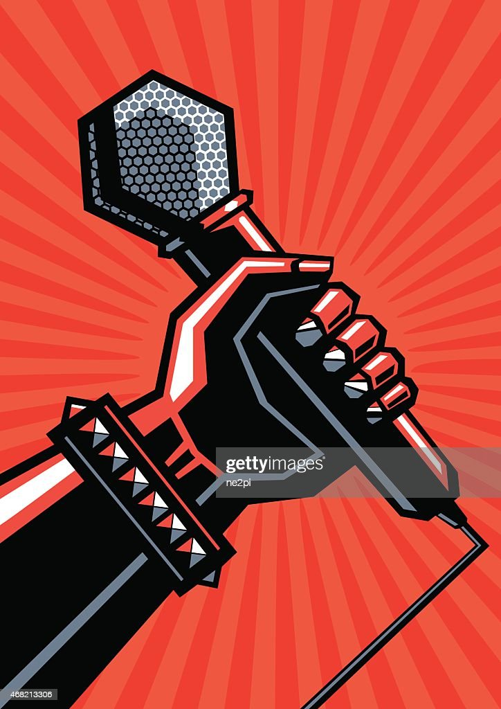 Rock poster with a microphone