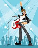 Rock singer at a concert