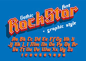 Rock Star  - decorative modern font with graphic style
