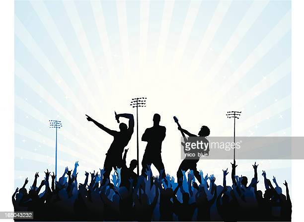 rock stars - performing arts event stock illustrations