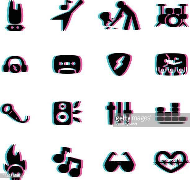 ilustraciones, imágenes clip art, dibujos animados e iconos de stock de roca - bajo eléctrico