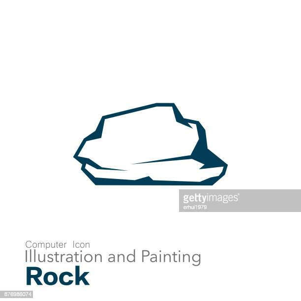 rock - stone material stock illustrations
