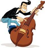Rockabilly Double Bass Player