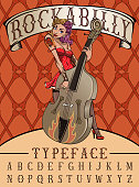 Rockabilly typeface poster.