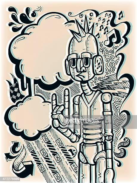 rockbot - punk rock点のイラスト素材/クリップアート素材/マンガ素材/アイコン素材
