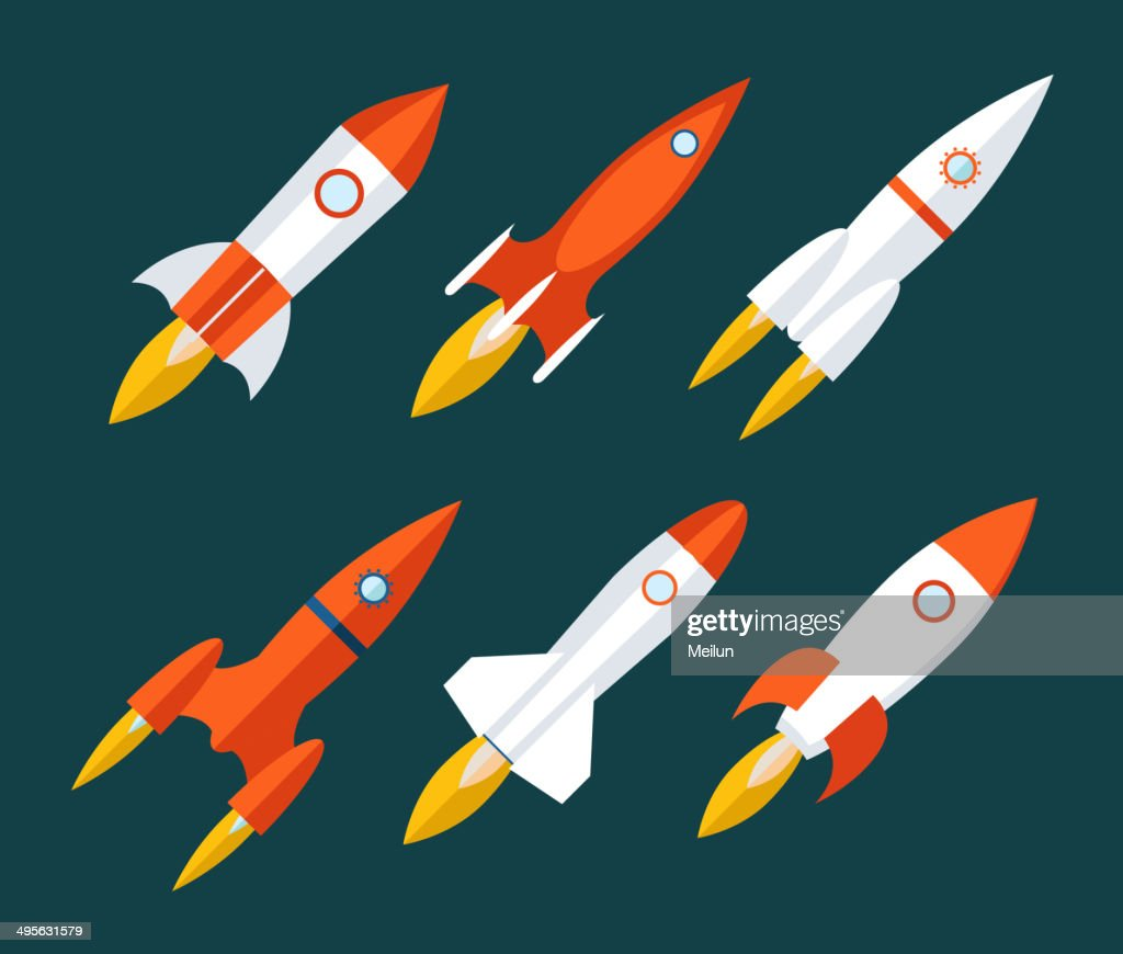 Rocket icons Start Up and Launch Symbol for New Businesses