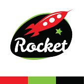 Rocket in spase Logo Template.