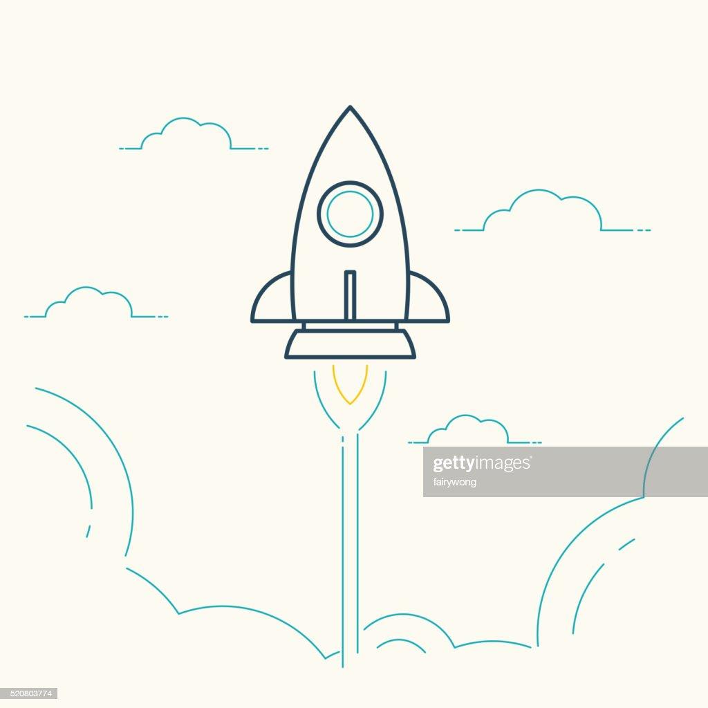 Rocket Launch - Startup Ccncept