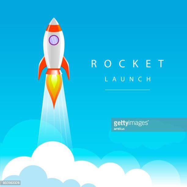 rocket launch - rocket stock illustrations