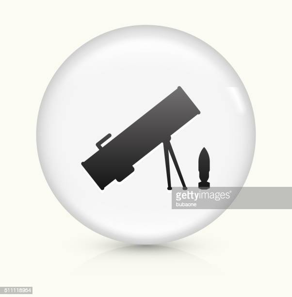 Rocket Launcher icon on white round vector button